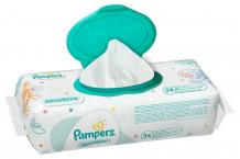 Купить детские салфетки, сменный блок pampers sensitive, 56 шт. pampers 997042490