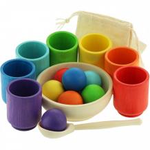 Купить деревянная игрушка уланик сортер монтессори шарики и ступки радуга sbs01c0704u