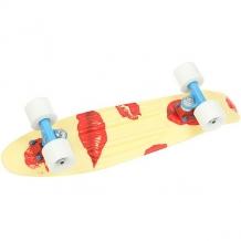 Купить скейт мини круизер пластборды pixel 1 yellow/red 6 x 22.5 (57.2 см) светло-желтый,красный 1179226
