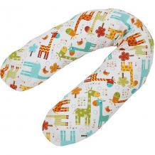 Купить подушка для кормления polini kids жирафы, белый 10853207