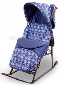Купить санки-коляска rich toys эми komfort складные 45030