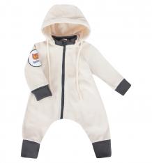 Купить комбинезон bambinizon полярный мишка, цвет: молочный ( id 6748224 )
