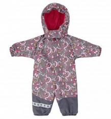 Купить комбинезон lappi kids aapa, цвет: серый/розовый ( id 6456367 )