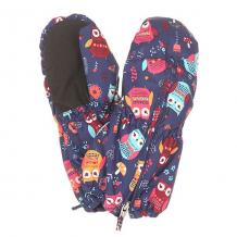 Купить варежки сноубордические детские roxy snows up mitt little owl blue prin синий,мультиколор ( id 1156704 )