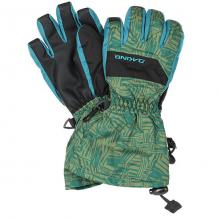 Купить перчатки сноубордические детские dakine yukon glove broken stripe синий,зеленый 1192623