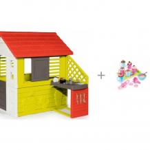 Купить smoby игровой домик с кухней 81071 с набором для приготовления кексов chef 312101