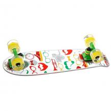 Купить скейт мини круизер virgin hipsters clear/green/yellow белый,зеленый,желтый ( id 1173601 )