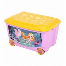 Купить ящик для игрушек бытпласт том и джерри, цвет: сиреневый ( id 10696508 )