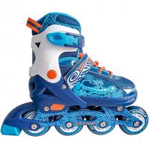 Купить набор: роликовые коньки, защита, шлем jungle set, синие 8340680