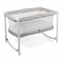 Купить кроватка-манеж chicco zip & go glacial, бежевый chicco 997049598