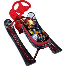 """Купить снегокат nika """"ника кросс"""" с роботом, бордовый каркас ( id 12657238 )"""