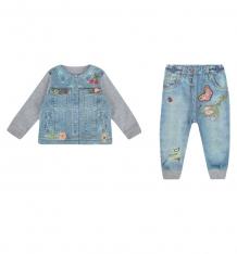 Купить комплект кофта/брюки папитто fashion jeans, цвет: фиолетовый/голубой 591-05 74