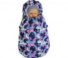 Купить топотушки демисезонный конверт для новорожденного бемби единороги 14
