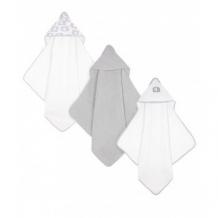 """Купить полотенце с уголком """"слоненок"""", 3 шт. в упаковке, цвет: серый, белый mothercare 9536676"""
