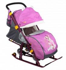 Купить санки-коляска nika kids (7-2), цвет: dog орхидея ( id 6510667 )
