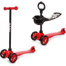 Купить трехколесный самокат наша игрушка 2в1 moby kids, красный ( id 11018987 )