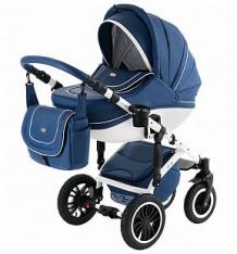 Купить коляска 2 в 1 vikalex ferrone, цвет: leather navy & white ( id 10124142 )
