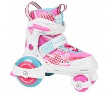 Купить детские ролики hudora раздвижные my first quad girl 22042