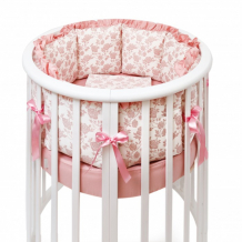 Купить комплект в кроватку colibri&lilly royal rose round (5 предметов)