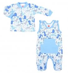 Купить комплект кофта/полукомбинезон makoma dino blue, цвет: голубой ( id 6972469 )