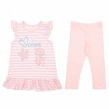 Купить комплект футболка/леггинсы leader kids сирена, цвет: белый/розовый ( id 11126102 )