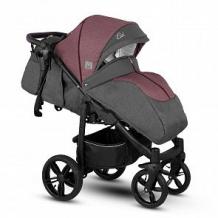 Купить прогулочная коляска camarelo elix, цвет: гранатовый меланж/коричневая экокожа ( id 10515278 )