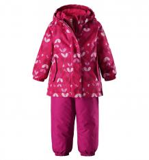 Купить комплект куртка/брюки reima tec ohra, цвет: розовый ( id 6241345 )