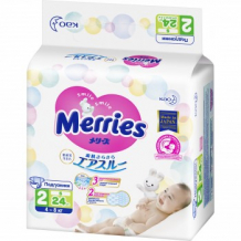 Подгузники для детей MERRIES размер S, 4-8 кг, 24 шт. Merries 993873258