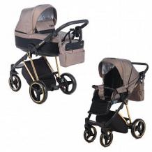 Купить коляска 2 в 1 adamex verona special edition, цвет: кожа черная/коричневый ( id 12678778 )