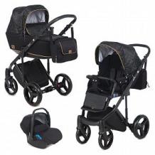 Купить коляска 3 в 1 adamex riccio, цвет: черный/принт ( id 12566170 )