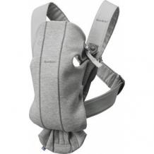 Купить рюкзак-переноска baby bjorn mini 3d jersey, светло-cерый babybjorn 997006065