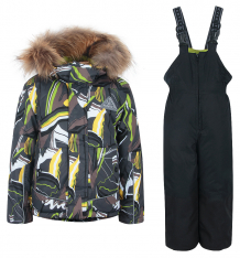 Купить комплект куртка/полукомбинезон kvartet, цвет: салатовый ( id 9585666 )