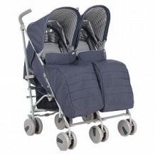 Купить коляска-трость для двойни corol l-2, цвет: синий ( id 12184132 )