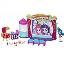 """Купить hasbro my little pony c0409 equestria girls игровой набор мини-кукол """"кинотеатр"""""""