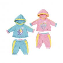Купить zapf creation baby born 823-774 бэби борн спортивный костюмчик (в ассортименте)