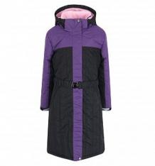 Купить пальто dudelf, цвет: черный/фиолетовый ( id 9244507 )
