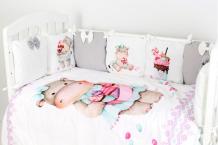 Купить комплект в кроватку топотушки глория (6 предметов) 682