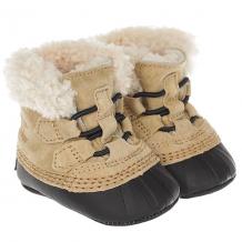 Купить ботинки зимние детские sorel caribootie curry black бежевый ( id 1189722 )