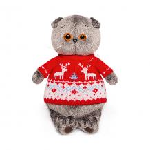 Купить мягкая игрушка budi basa кот басик в свитере с оленями, 19 см ( id 9396358 )