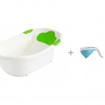 Купить roxy-kids ванночка с анатомической горкой и сливом + ковш с лейкой