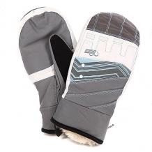 Купить варежки сноубордические женские pow feva mitt grey серый,бежевый