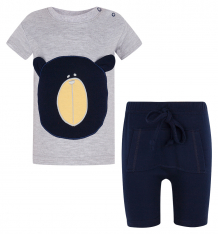 Купить комплект футболка/шорты aga bear, цвет: серый/синий ( id 8223121 )