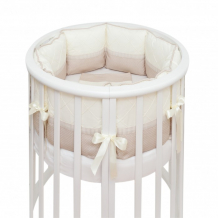 Купить бортик в кроватку colibri&lilly cappuccino round в круглую и овальную кроватку