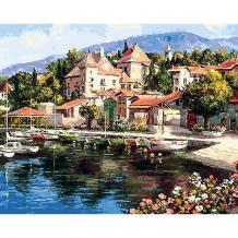 Купить картина по номерам белоснежка «лодочная пристань», 40x50 см ( id 8334828 )