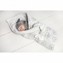 Купить комплект на выписку мишутка slingme, цвет: серый комбинезон/одеяло/шапка/снуд/бант 90 х 90 см ( id 12797890 )