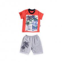 Купить комплект футболка/шорты bidirik, цвет: коралловый 854