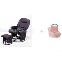 Купить кресло для мамы tutti bambini metal glider с накидкой-снудом для кормления rinka studio