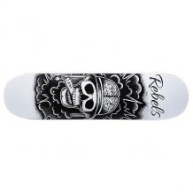 Купить дека для скейтборда для скейтборда rebels tnt fiberglass white 31.75 x 8.1 (20.6 см) черный,белый