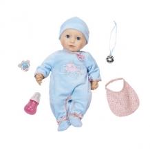 Купить zapf creation baby annabell 794-654 бэби аннабель кукла-мальчик многофункциональная, 43 см