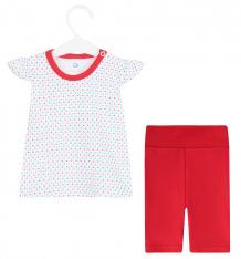 Купить комплект футболка/шорты aga girl, цвет: красный ( id 8549071 )